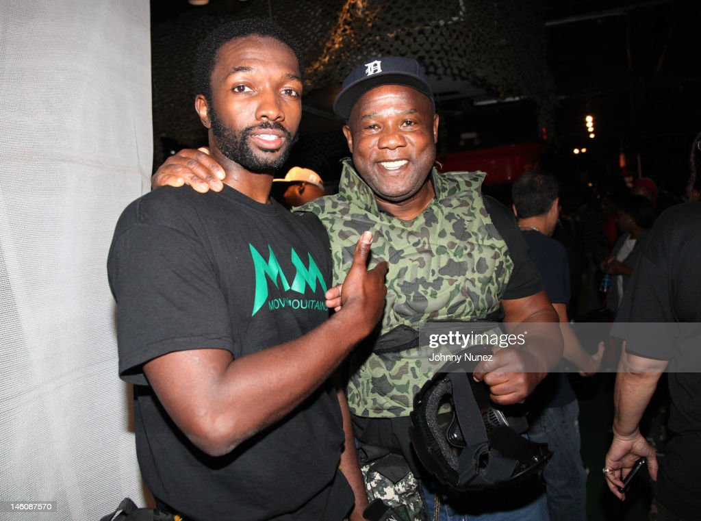 <a gi-track='captionPersonalityLinkClicked' href=/galleries/search?phrase=Jamie+Hector&family=editorial&specificpeople=666307 ng-click='$event.stopPropagation()'>Jamie Hector</a> and Isiah Whitlock, Jr. attend the Moving Mountains Celebrity Paintball Tournament at NYC Paintball And Laser Tag on June 9, 2012 in New York City.