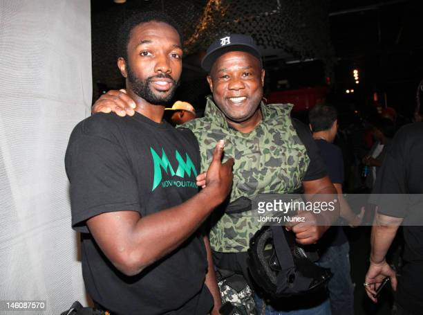 Jamie Hector and Isiah Whitlock Jr attend the Moving Mountains Celebrity Paintball Tournament at NYC Paintball And Laser Tag on June 9 2012 in New...