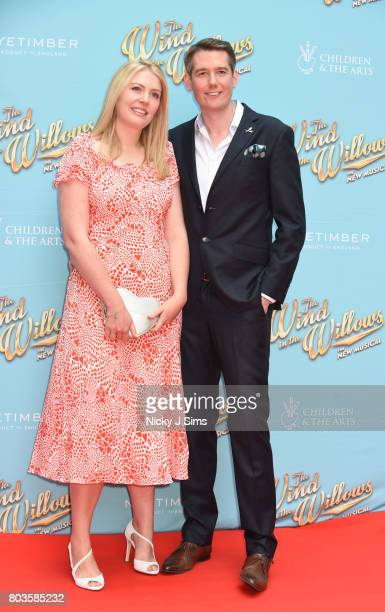 Jamie Hendry and wife attend the Gala performance of Wind In The Willows at London Palladium on June 29 2017 in London England