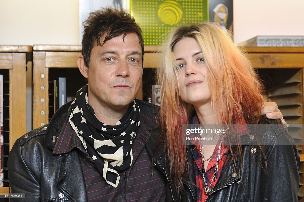 Jamie Hince and Alison Mosshart of The Kills meets fans and signs copies of 'Dream and Drive' on September 26, 2012 in London, England.