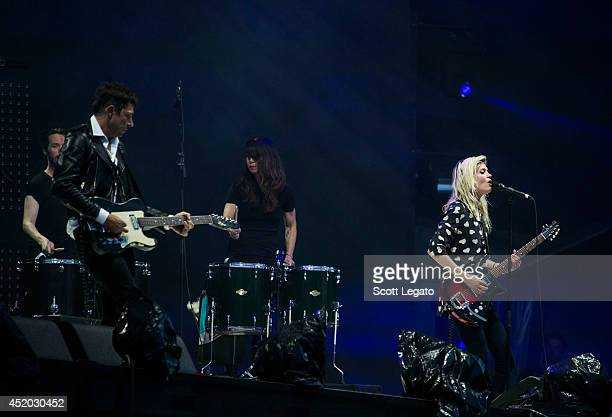 Jamie Hince and Alison Mosshart of The Kills performs at Festival D'ete De Quebec on July 10 2014 in Quebec City Canada