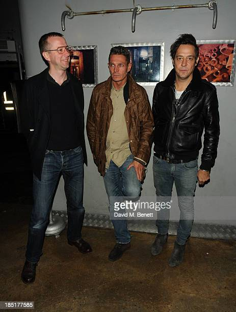 Jamie Hince and guests attend the premiere of Dinos Chapman Luftbobler Live AV Show at Fabric on October 17 2013 in London England