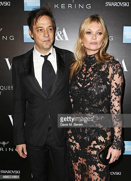 Jamie Hince and Kate Moss arrive at the Alexander McQueen Savage Beauty Fashion Gala at the VA presented by American Express and Kering on March 12...