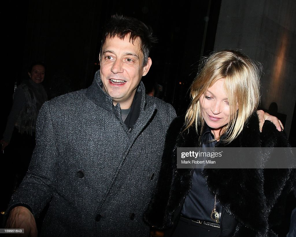 <a gi-track='captionPersonalityLinkClicked' href=/galleries/search?phrase=Jamie+Hince&family=editorial&specificpeople=220566 ng-click='$event.stopPropagation()'>Jamie Hince</a> and <a gi-track='captionPersonalityLinkClicked' href=/galleries/search?phrase=Kate+Moss&family=editorial&specificpeople=201830 ng-click='$event.stopPropagation()'>Kate Moss</a> at the Wolseley restaurant on January 23, 2013 in London, England.