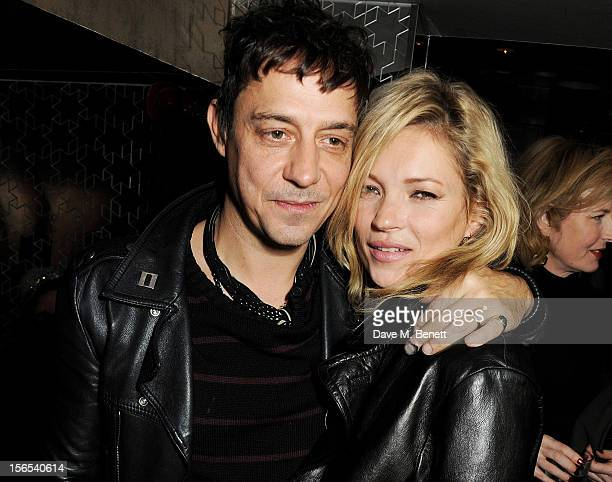 Jamie Hince and Kate Moss attend an after party hosted by Leon Max to celebrate the launch of his first London store at The Lonsdale on November 16...