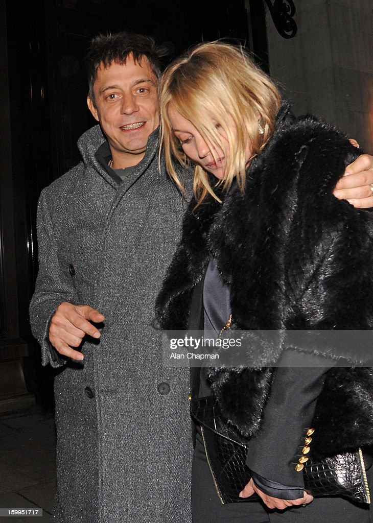 Jamie Hince and Kate Moss sighting in Mayfair on January 23, 2013 in London, England.
