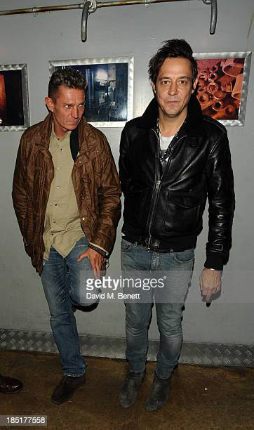 Jamie Hince attends the premiere of Dinos Chapman Luftbobler Live AV Show at Fabric on October 17 2013 in London England