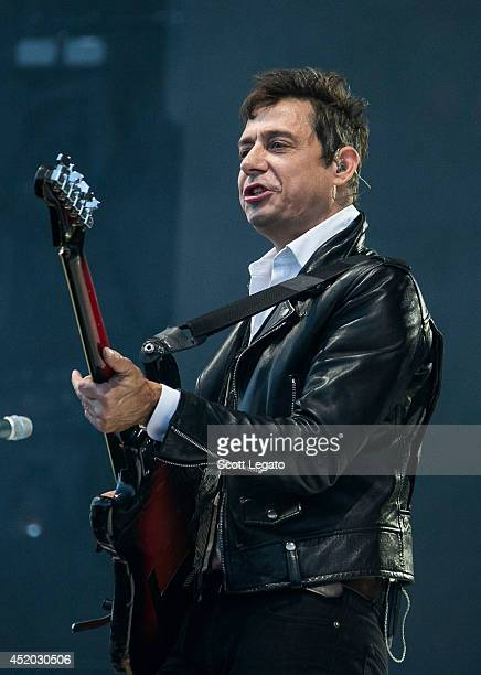 Jamie Hince of The Kills performs at Festival D'ete De Quebec on July 10 2014 in Quebec City Canada
