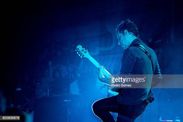 Jamie Hince of The Kills performs at the Lisbon Coliseum on November 3 2016 in Lisbon Portugal