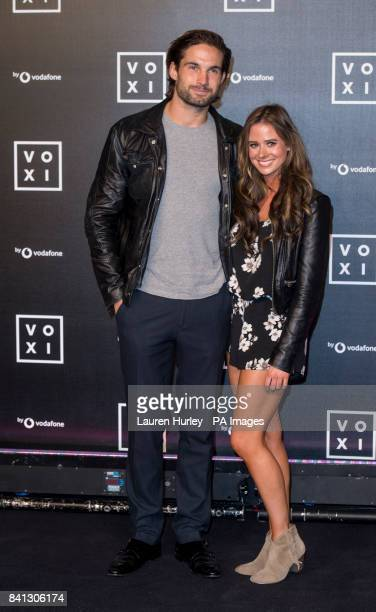 Jamie Jewitt and Camilla Thurlow attend an event to mark the launch of new mobile VOXI at Brick Lane Yard in London