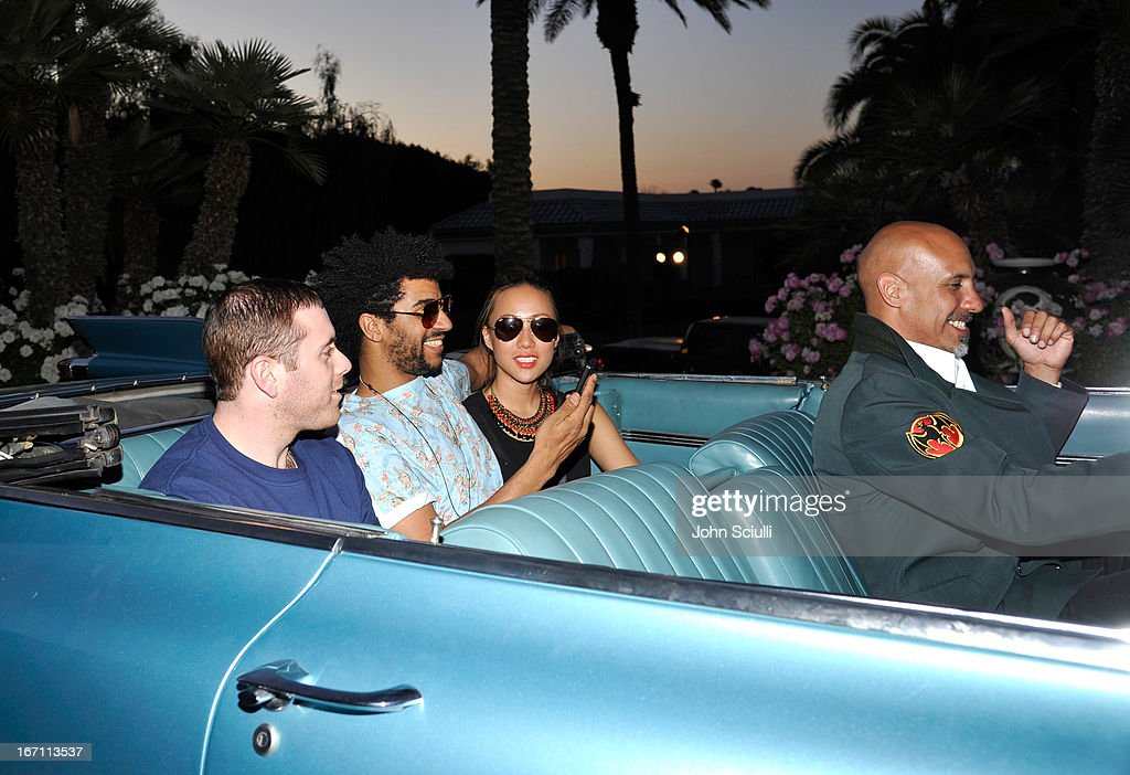 Jamie Jones departs the Soho House Pop Up with Bacardi during Coachella 2013 at Merv Griffin Estate on April 20, 2013 in La Quinta, California.