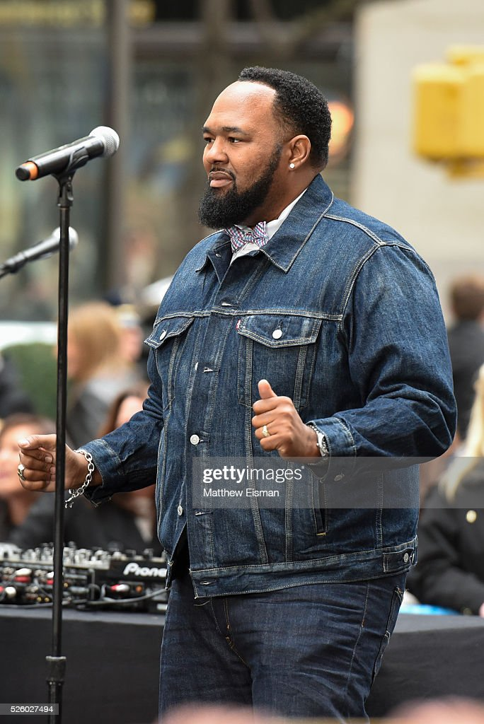 Jamie Jones of All-4-One performs live on stage for NBC's 'Today' at Rockefeller Plaza on April 29, 2016 in New York City.