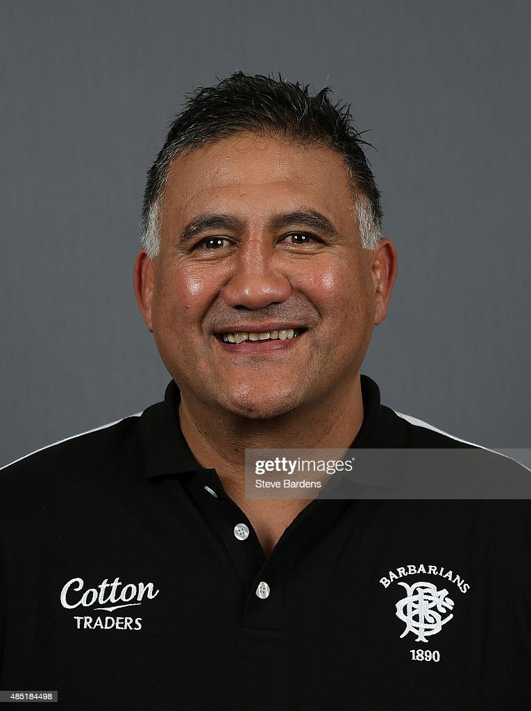 Jamie Joseph, Forward Coach of the Barbarians poses for a portrait during the Barbarians photocall at the Westbury Hotel on August 25, 2015 in London, England.