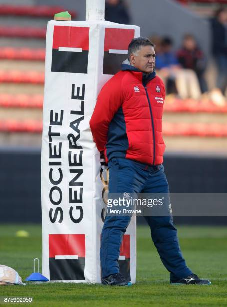 Jamie Joseph of Japan during the international match between Japan and Tonga at Stade Ernest Wallon on November 18 2017 in Toulouse Kanagawa France