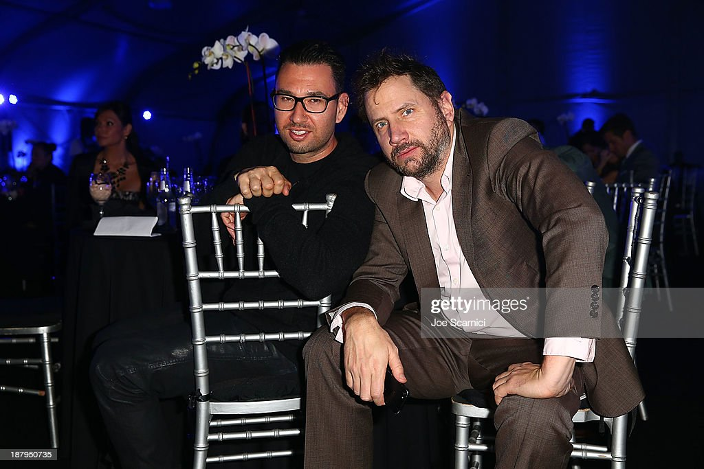 <a gi-track='captionPersonalityLinkClicked' href=/galleries/search?phrase=Jamie+Kennedy&family=editorial&specificpeople=206976 ng-click='$event.stopPropagation()'>Jamie Kennedy</a> (R) and guest attend the 2013 Los Angeles Police Department South Los Angeles PAAL Awards Gala at Peterson Automotive Museum on November 13, 2013 in Los Angeles, California.