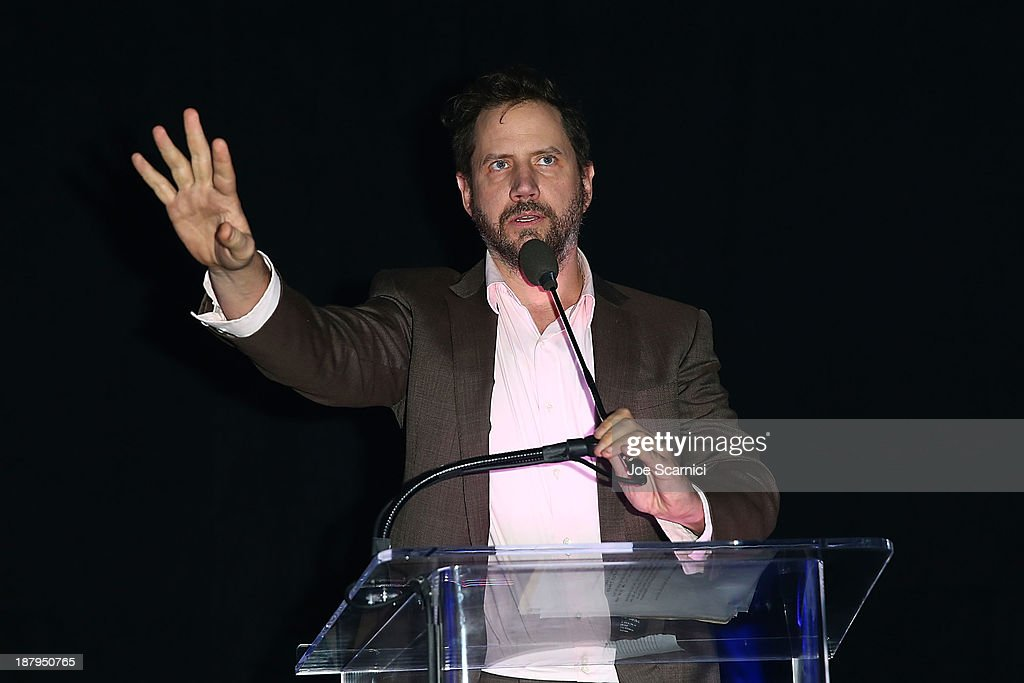 <a gi-track='captionPersonalityLinkClicked' href=/galleries/search?phrase=Jamie+Kennedy&family=editorial&specificpeople=206976 ng-click='$event.stopPropagation()'>Jamie Kennedy</a> attends the 2013 Los Angeles Police Department South Los Angeles PAAL Awards Gala at Peterson Automotive Museum on November 13, 2013 in Los Angeles, California.