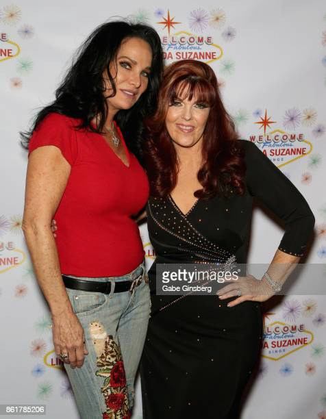 Jamie Kiger and singer Linda Suzanne attend the debut of Suzanne's show 'Linda Suzanne Sings Divas of Pop' at the South Point Hotel Casino on October...
