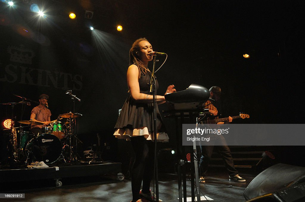 Jamie Kyriakides, Marcia Richards and Jonathan Doyle of The Skints perform on stage at KOKO on May 22, 2013 in London, England.
