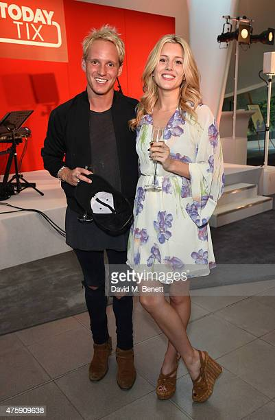 Jamie Laing and Caggie Dunlop attend as TodayTix celebrate the launch of their UK app with an exclusive party in London's Hyde Park at The Magazine...