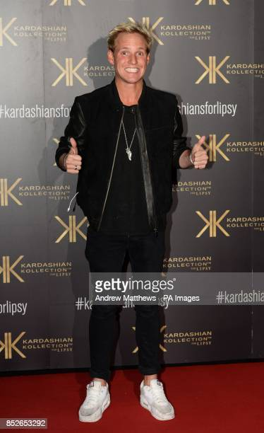Jamie Laing attending the Kardashian Kollection For Lipsy launch party at the Natural History Museum London