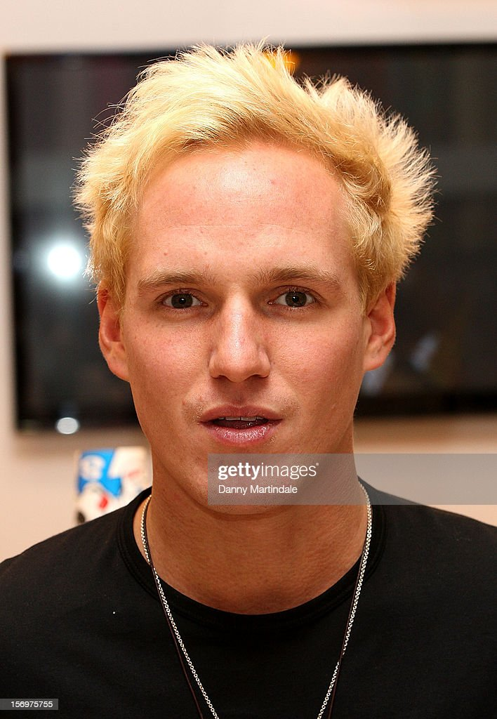 Jamie Laing attends a photocall to open the UK's Largest sweet shop - Kingdom of Sweets at Lakeside Shopping Centre on November 26, 2012 in Thurrock, England.
