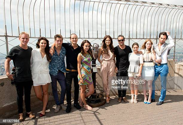 Jamie Laing Binky Felstead Stevie Johnson Oliver Proudlock Lucy Watson Rosie Fortescue Spencer Matthews Louise Thompson Riley Uggla and MarkFrancis...