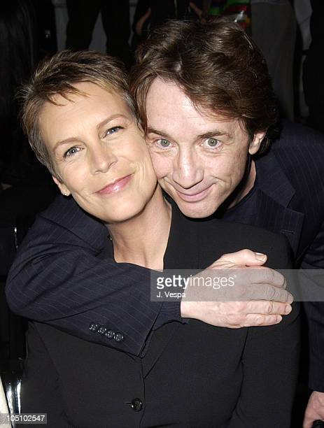 Jamie Lee Curtis and Martin Short during MercedesBenz Shows LA Richard Tyler Front Row and Backstage at The Standard Downtown LA in Los Angeles...