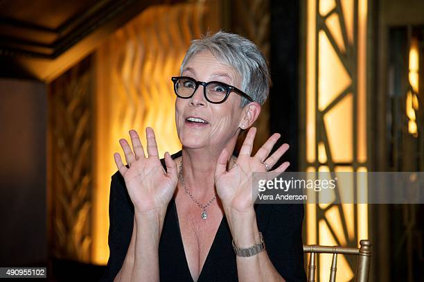 Jamie Lee Curtis at the 'Scream Queens' Press Conference at Fox Studio Lot on October 1 2015 in Century City California