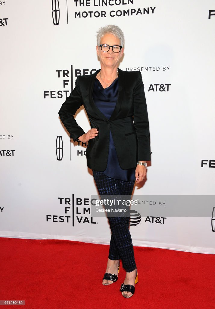 Jamie Lee Curtis attends 2017 Tribeca Film Festival 'Hondros' at Cinepolis Chelsea on April 21, 2017 in New York City.