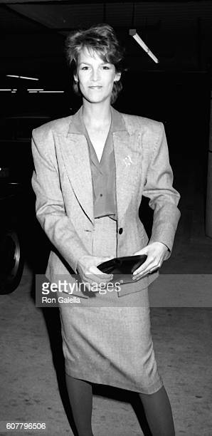 Jamie Lee Curtis attends American Film Market Opening Party on March 9 1984 at the Beverly Center in Beverly Hills California