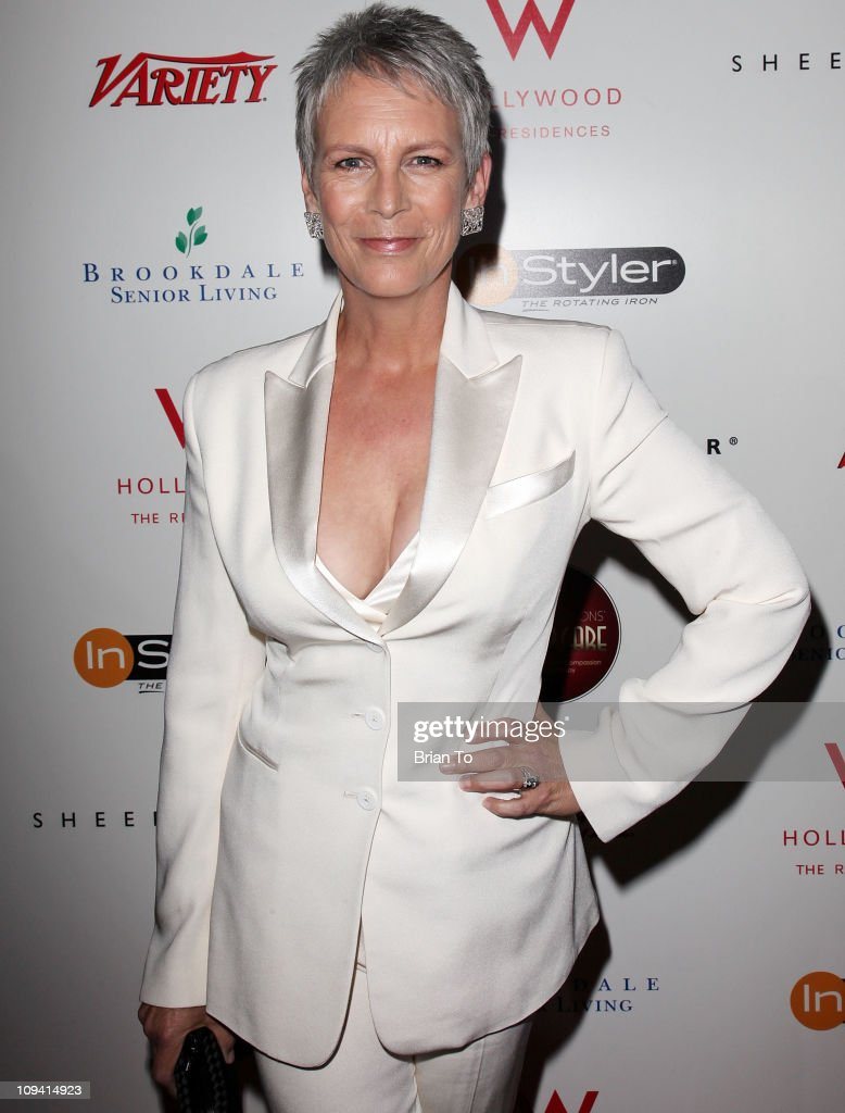 Jamie Lee Curtis attends Leeza Gibbons' Dare2Care pre-Oscar cocktail ...