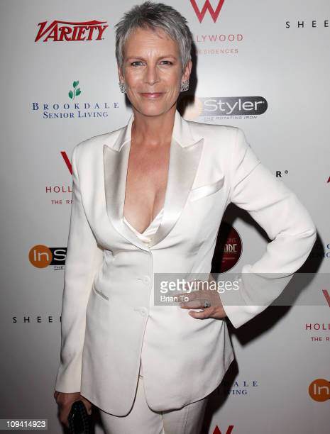 Jamie Lee Curtis attends Leeza Gibbons' Dare2Care preOscar cocktail party at BOA Steakhouse on February 24 2011 in West Hollywood California