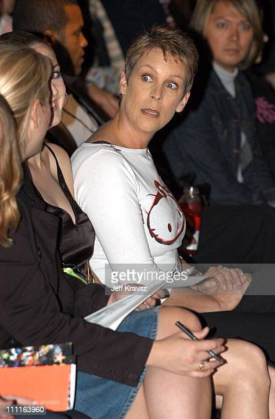 Jamie Lee Curtis during Heatherette Fashion Show at The Lot @ The Standard Hotel Downtown in Los Angeles CA United States