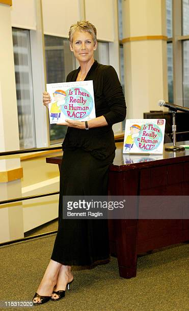 Jamie Lee Curtis during 'Is There Really a Human Race' Book Signing with Jamie Lee Curtis at Barnes Noble in New York City New York United States