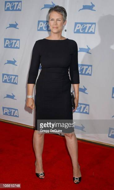Jamie Lee Curtis during PETA's 25th Anniversary Gala and Humanitarian Awards Show Arrivals at Paramount Studios in Hollywood California United States