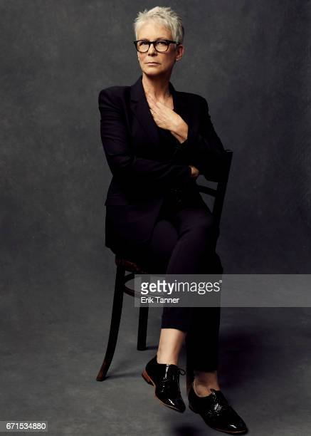 Jamie Lee Curtis from 'Hondros' poses at the 2017 Tribeca Film Festival portrait studio on April 21 2017 in New York City