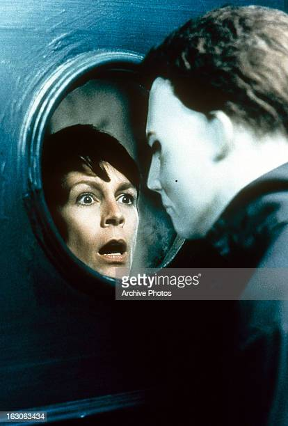 Jamie Lee Curtis gasps in a scene from the film 'Halloween H20 20 Years Later' 1998