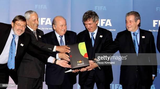 Jamie Lissavetzky DiazSecretario de Estadio y Presidente del Consejo Superior de Deportes de Espana Angelo Brou General Secretary of and FPF member...