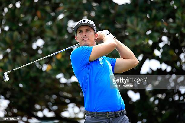 Jamie Lovemark of the United States hits his tee shot on the second hole during the final round of the Arnold Palmer Invitational Presented by...