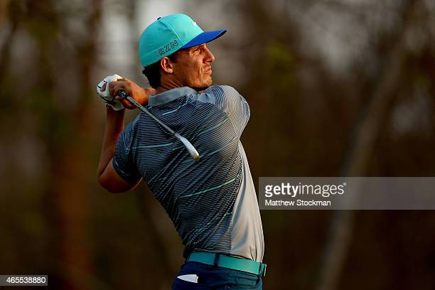 Jamie Lovemark of the United States hits off the 9th tee during the third round of the Cartagena de Indias at Karibana Championship at the TPC...