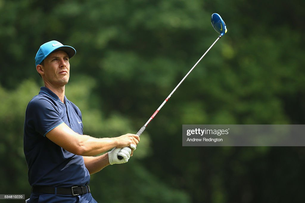 <a gi-track='captionPersonalityLinkClicked' href=/galleries/search?phrase=Jamie+Lovemark&family=editorial&specificpeople=4350703 ng-click='$event.stopPropagation()'>Jamie Lovemark</a> of the United States tees off on the 3rd hole during day three of the BMW PGA Championship at Wentworth on May 28, 2016 in Virginia Water, England.