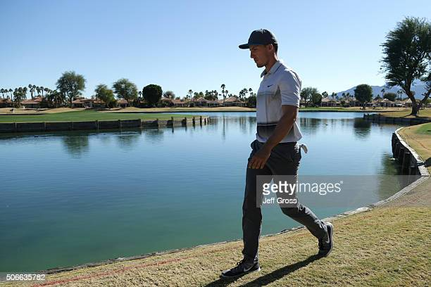 Jamie Lovemark walks to the sixth green during the final round of the CareerBuilder Challenge In Partnership With The Clinton Foundation at the TPC...