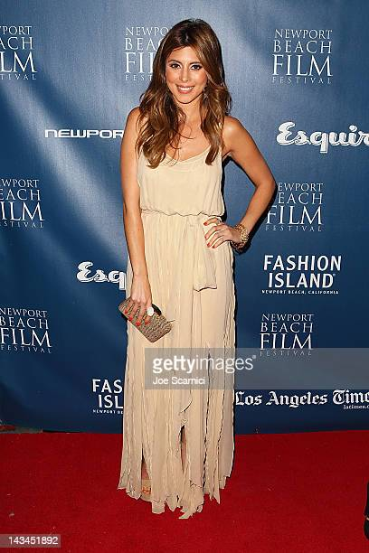 Jamie Lynn Sigler arrives at the 13th Annual Newport Film Festival Opening Night Premiere 'Jewtopia' at Edwards Big Newport on April 26 2012 in...