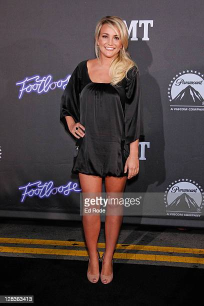 Jamie Lynn Spears attends the premiere of 'Footloose' at the Franklin Theater on October 6 2011 in Nashville Tennessee