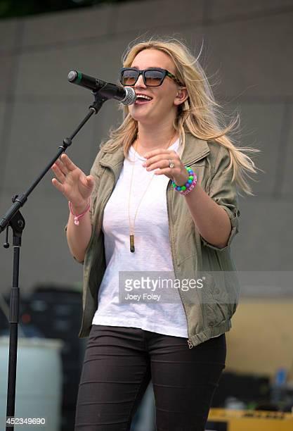Jamie Lynn Spears performs onstage at the 2014 Buckle Up Music Festival on July 18 2014 in Cincinnati Ohio
