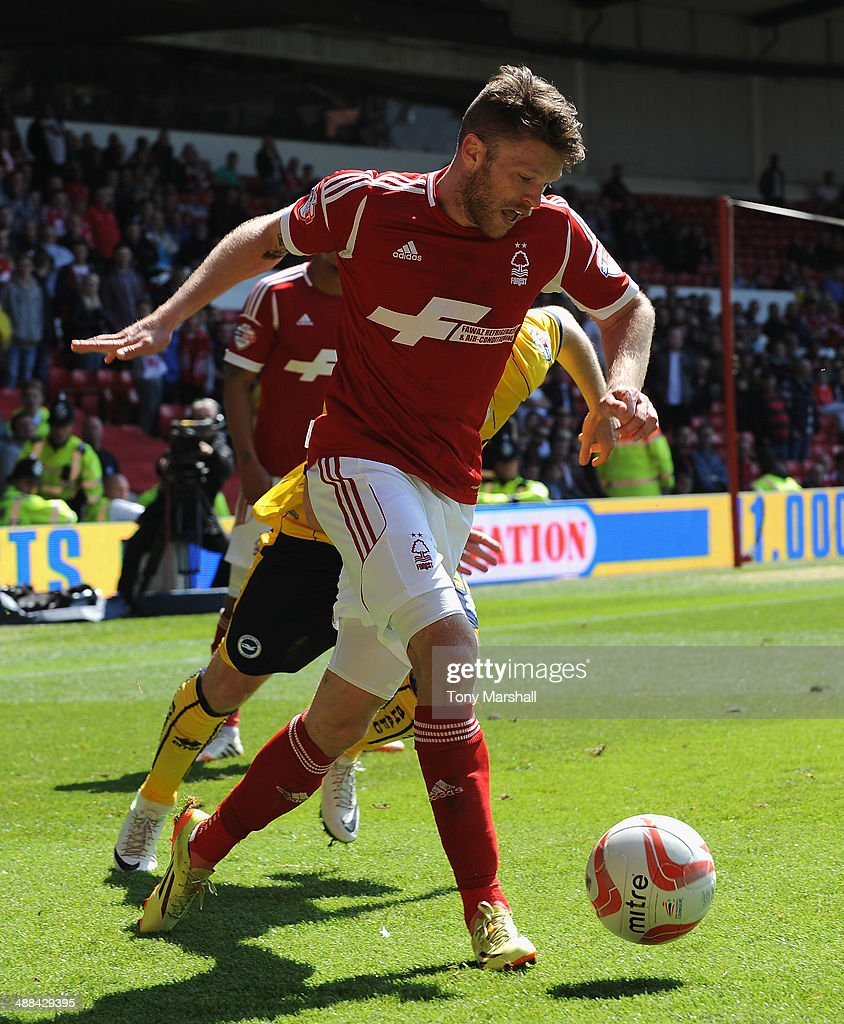 <a gi-track='captionPersonalityLinkClicked' href=/galleries/search?phrase=Jamie+Mackie&family=editorial&specificpeople=5545546 ng-click='$event.stopPropagation()'>Jamie Mackie</a> of Nottingham Forest during the Sky Bet Championship match between Nottingham Forest and Brighton & Hove Albion at City Ground on May 03, 2014 in Nottingham, England,