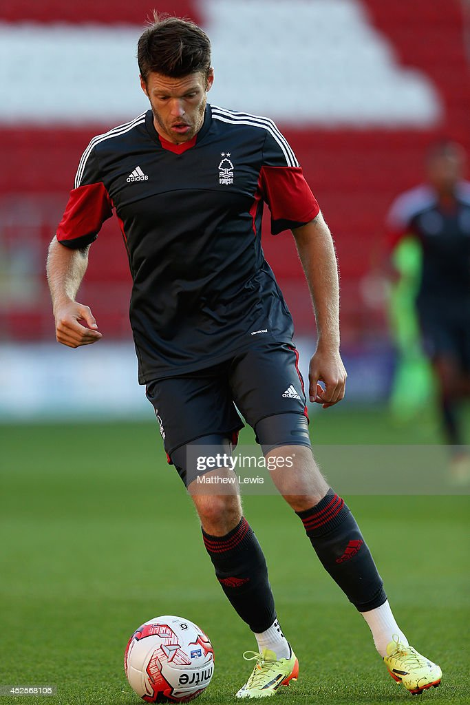 <a gi-track='captionPersonalityLinkClicked' href=/galleries/search?phrase=Jamie+Mackie&family=editorial&specificpeople=5545546 ng-click='$event.stopPropagation()'>Jamie Mackie</a> of Nottingham Forest in action during the Pre Season Friendly match between Rotherham United and Nottingham Forest at The New York Stadium on July 23, 2014 in Rotherham, England.