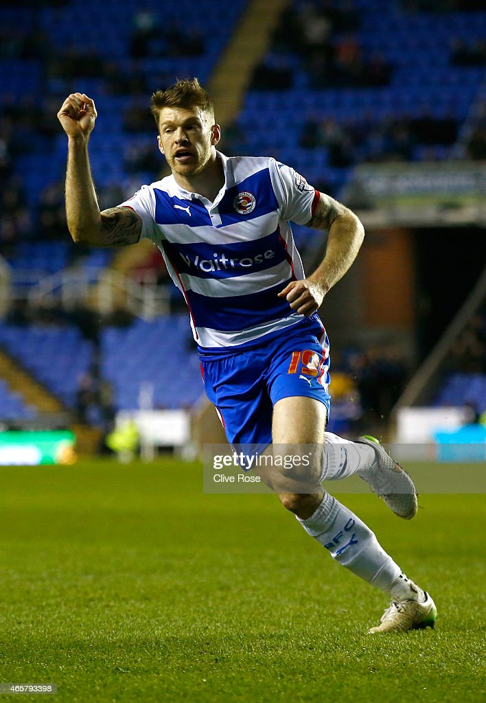 <a gi-track='captionPersonalityLinkClicked' href=/galleries/search?phrase=Jamie+Mackie&family=editorial&specificpeople=5545546 ng-click='$event.stopPropagation()'>Jamie Mackie</a> of Reading celebrates his goal during the Sky Bet Championship match between Reading and Brighton & Hove Albion at Madejski Stadium on March 10, 2015 in Reading, England.