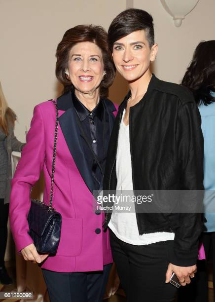 Jamie Marks and Panel Speaker Samantha Paige attend the Visionary Women's Salon Mind Body and Soul at Montage Beverly Hills on March 30 2017 in...