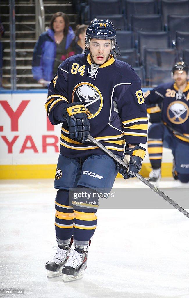 Jamie McBain of the Buffalo Sabres skates against the Edmonton Oilers at First Niagara Center on February 3 2014 in Buffalo New York